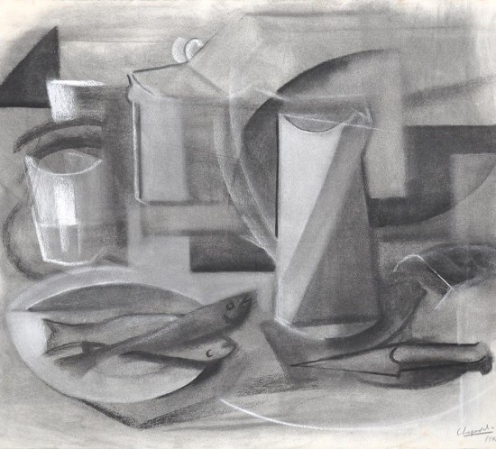 1946 youla chapoval nature morte fusain