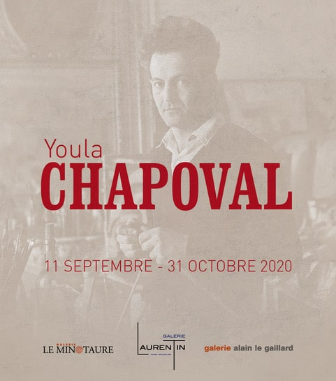 affiche expo saint germain des prés paris 2020 Chapoval